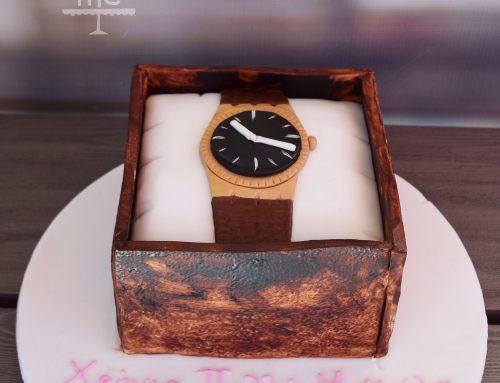 Τούρτα ρολόι σε θήκη